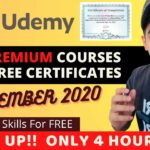 Worlds Best Udemy Free Courses With Free Certificate Specially for Students Learn Online Free