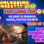 HOW TO BYPASS DOWNLOADING RESOURCES IN MLBB PATCH (PAQUITO) IN JUST A MINUTE LANG