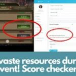 Dont waste resources during Shop Event Score Checker tool for King of Avalon (KoA)