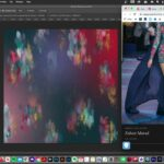 Abstract, artistic painterly background Photoshop Tutorial Free Canva Template