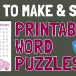 How to Make Sell Printable Word Search Puzzles on Etsy (or Shopify PayHip)