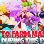 NEW EASY FAST GEM FARMING EVENT FULL GUIDE: Box CC Gains Stacked Gear Sets (7DS Grand Cross)