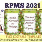 RPMS 2021 FREE EDITABLE TEMPLATE WITH EXPLANATION