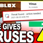 Roblox Game gives COMPUTER VIRUS