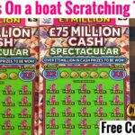 Scotty is on a Boat Scratching Lottery Tickets Scratch Cards Tickets Lottery Fun