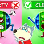 Wolfoo, Dont make Pop It toys dirty – Wolfoo Plays Pop It Challenge for Kids Wolfoo Channel